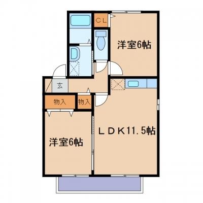 新倉敷駅前5丁目「アネシス」 1LDK 賃料¥56,000