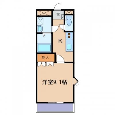 玉島乙島「エーデルワイス」 1K 賃料¥43,000