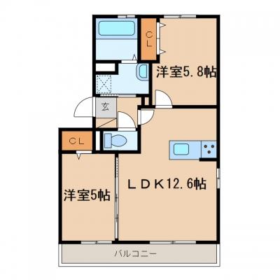 【新築】「D-room里庄」 2LDK