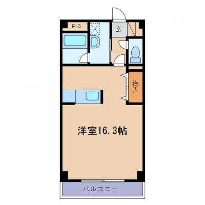 新倉敷駅前3丁目「Bellville」 1R 賃料¥53,000