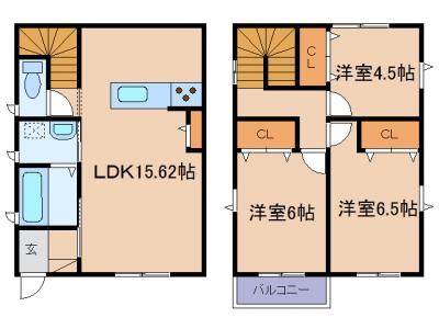 玉島上成「コンフォール」 3LDK 賃料¥93,000
