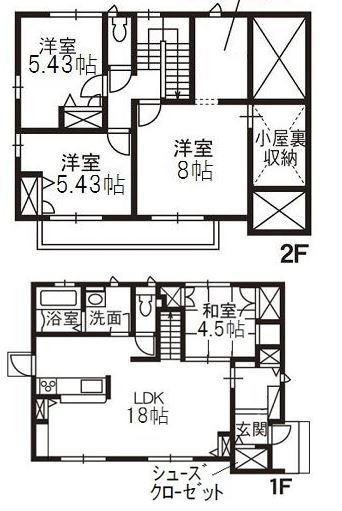 玉島長尾「玉島長尾貸家」 4LDK 賃料¥118,000