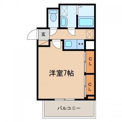 玉島長尾「グランディオーズTOKI Ⅲ」 1K 賃料¥46,000