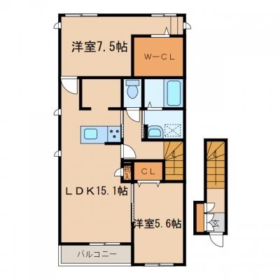 玉島「グランツパール」 2LDK 賃料¥71,000