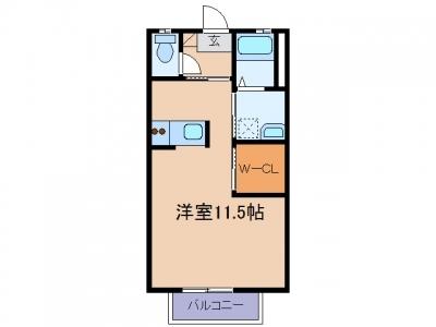 新倉敷駅前1丁目「エストリオンⅡ」 1R 賃料¥45,000