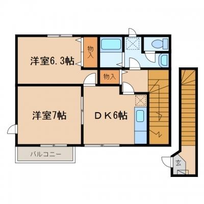 矢掛町矢掛「ショコラハウス」 2DK 賃料¥48,000