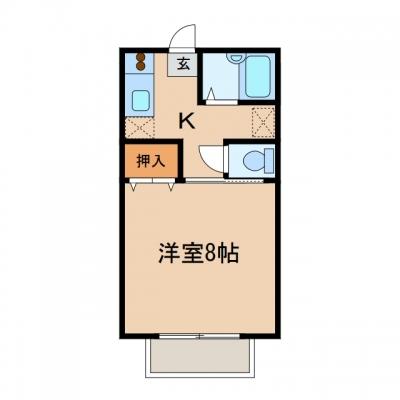 玉島八島「リンデンバウム」 1K 賃料¥36,000
