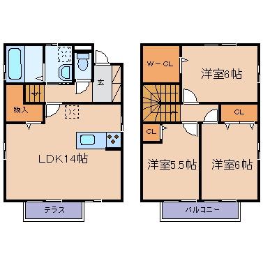 玉島上成「アヴァンセD」 3LDK 賃料¥98,000