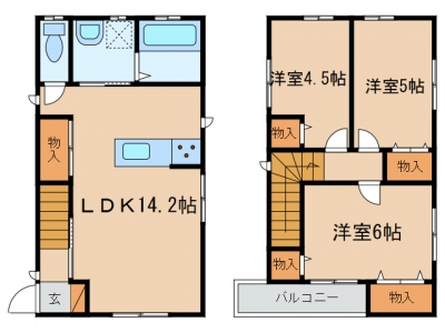 玉島「ソレイユⅠ」 3LDK 賃料¥95,000