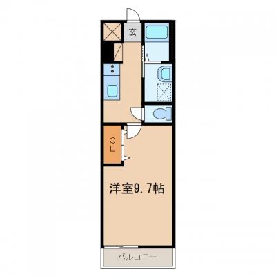 【新築】玉島乙島「シェルル乙島」 1K 賃料¥44,000~¥46,000