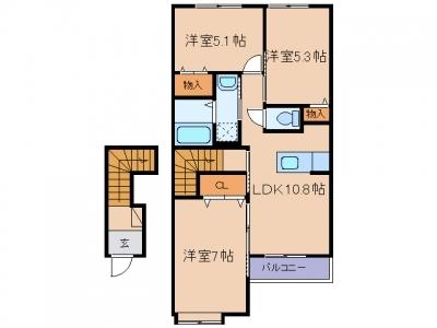 玉島八島「クレア」 3LDK 賃料¥62,000