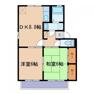 玉島爪崎「ロイヤルパレス新倉」 2DK 賃料¥39,000