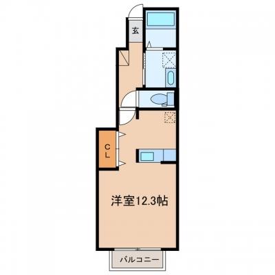 玉島爪崎「アクティフ ミサオ」 1K 賃料¥44,000